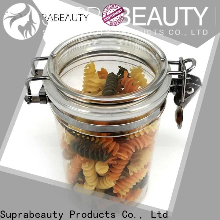 Suprabeauty plastic cosmetic jars with lids factory direct supply for sale