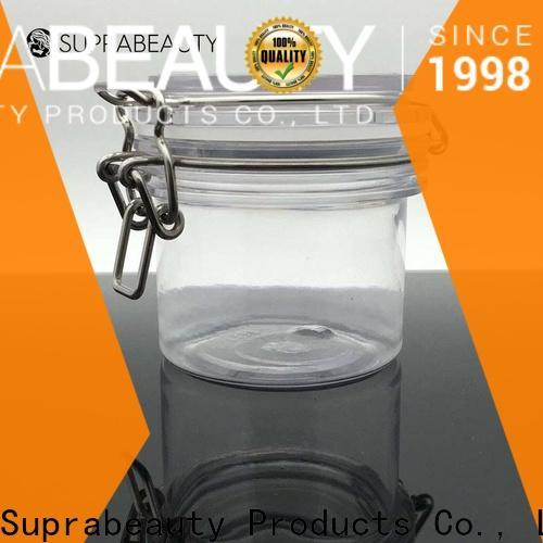 customized clear plastic jars with lids best manufacturer bulk production