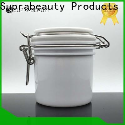 customized plastic cosmetic jars with lids factory direct supply for promotion