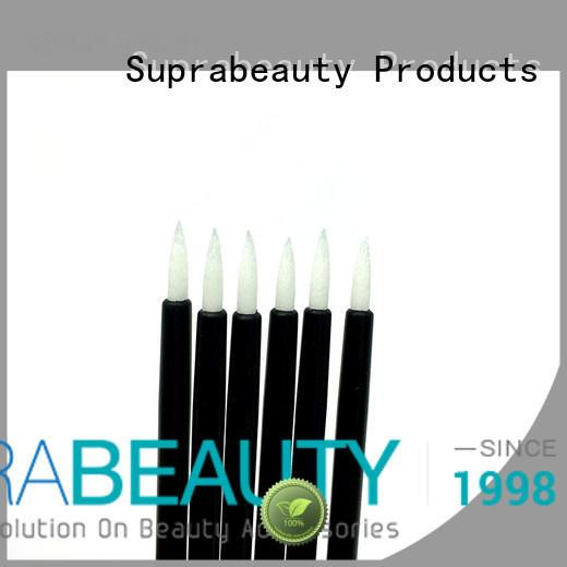 Disposable lip brush white fiber tips Suprabeauty SPD1002