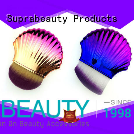 shell cheap face makeup brushes with super fine tips for loose powder