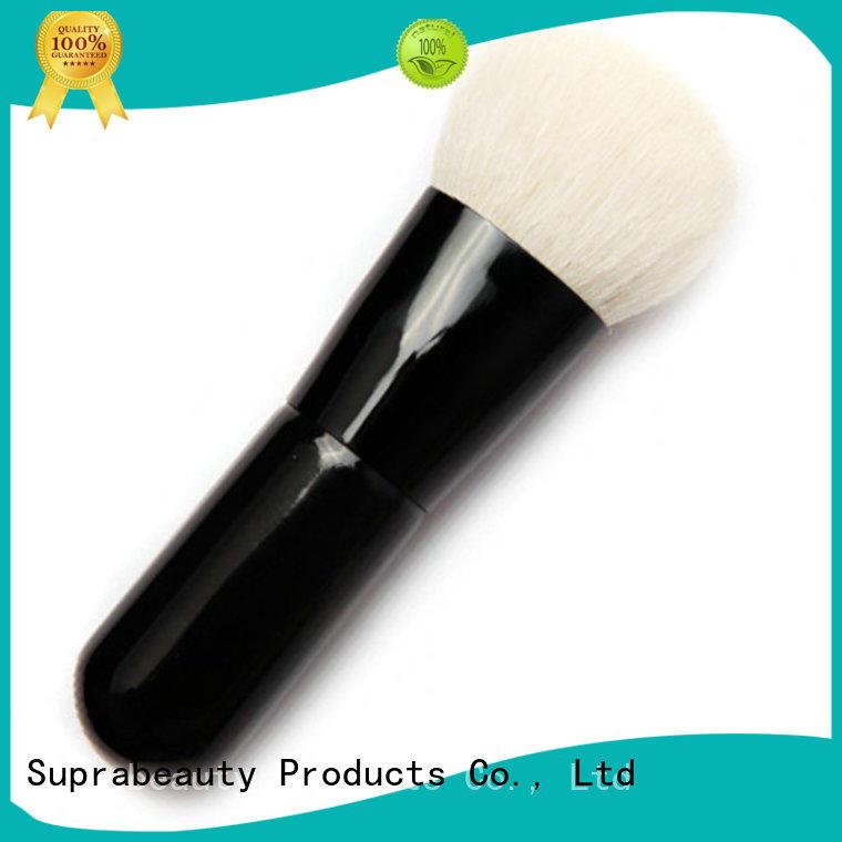 Short handle goat hair mineral powder makeup brush
