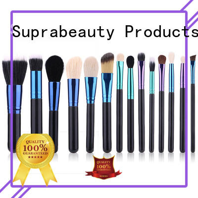 aluminum best rated makeup brush sets with curved synthetic hair for students