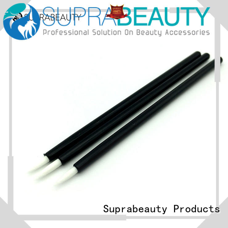 silicone disposable brow brush smudger for lip gloss cream Suprabeauty