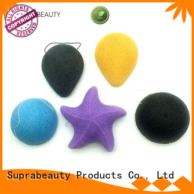 Suprabeauty organic face sponge for foundation with customized color for mineral dried powder