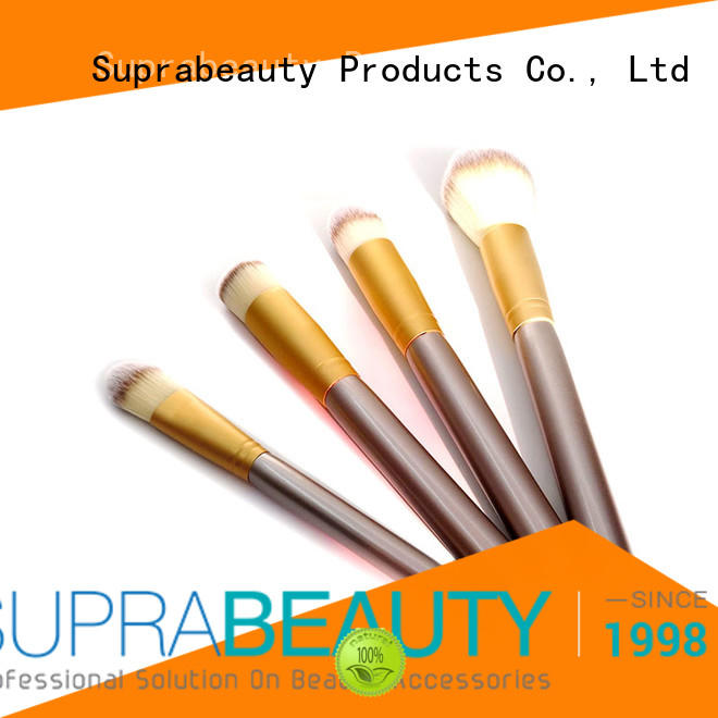 Suprabeauty pcs foundation brush set with curved synthetic hair for loose powder