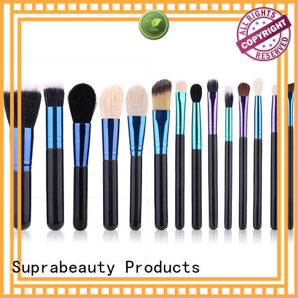 Suprabeauty sp affordable makeup brush sets with curved synthetic hair for students
