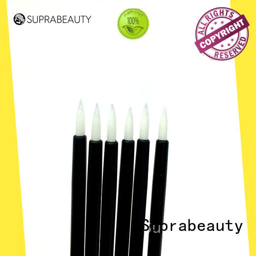 Suprabeauty paper tips eyeliner brush with bamboo handle for eyelash extension liquid