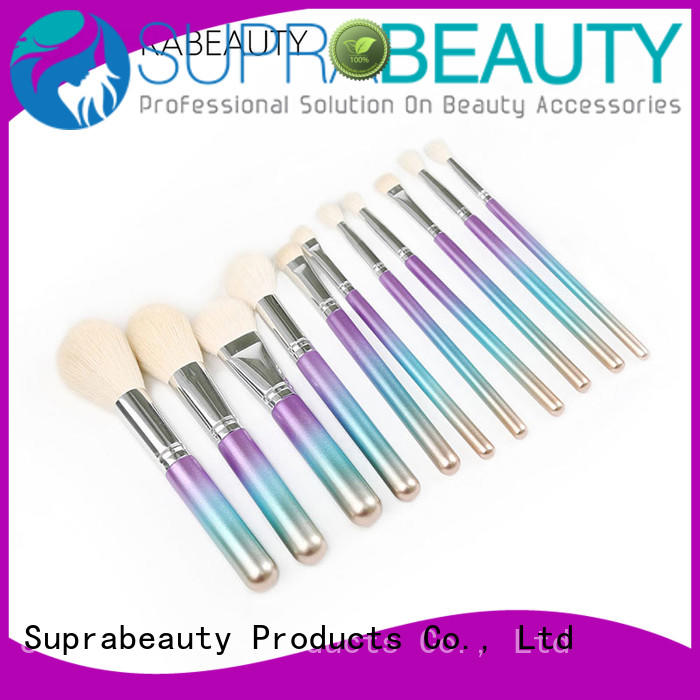 pcs makeup brush kit online with synthetic bristles Suprabeauty