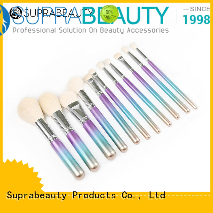 Suprabeauty sp top 10 makeup brush sets with curved synthetic hair for loose powder