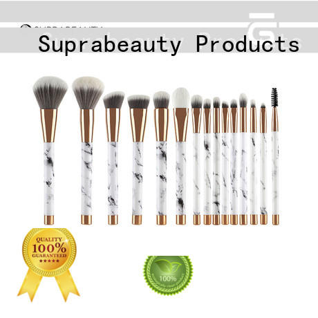 portable professional makeup brush set with curved synthetic hair for artists