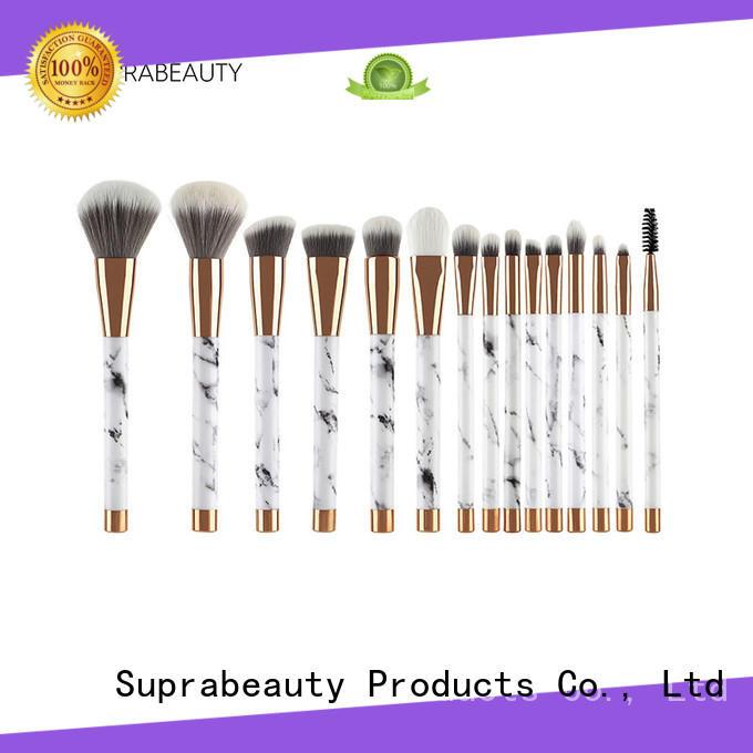 Marble makeup brush set synthetic hair 15pcs makeup brush set