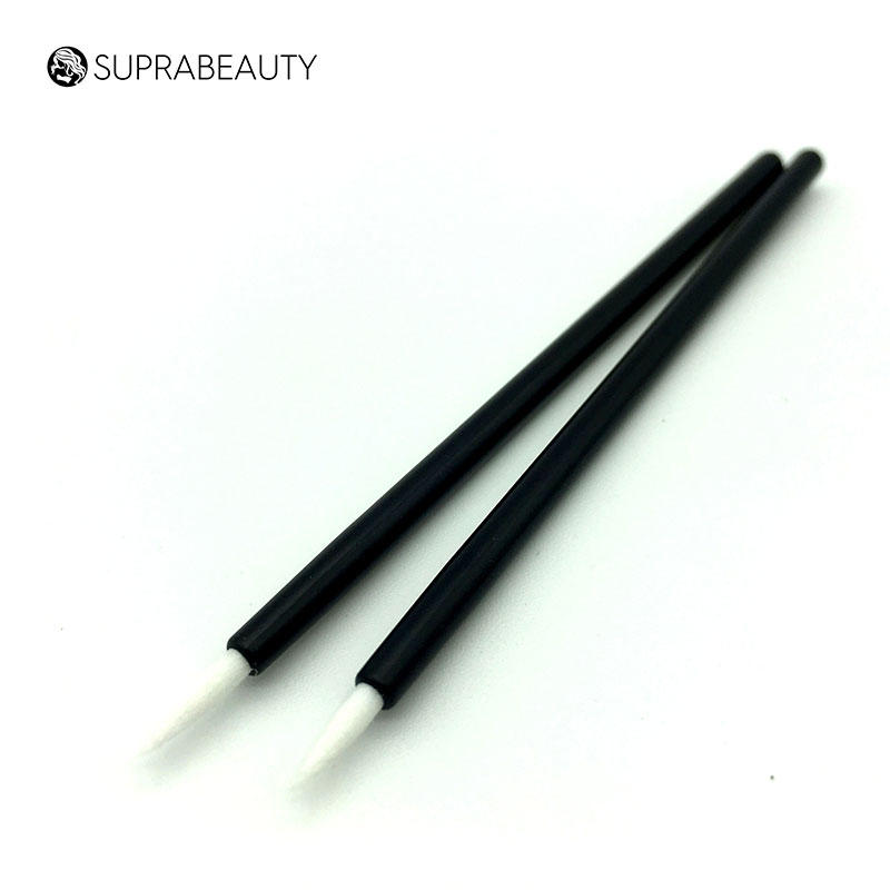 gentle material disposable eyeliner wands with bamboo handle for eyelash extension liquid Suprabeauty-1