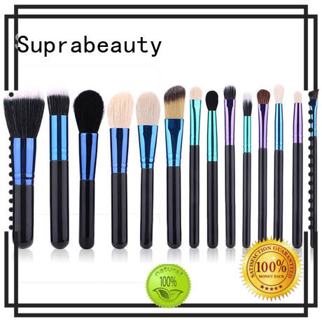 cruelty eye brushes with curved synthetic hair for eyeshadow