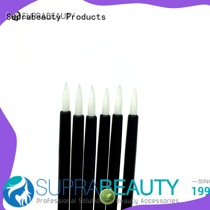gentle material disposable eyeliner wands with bamboo handle for eyelash extension liquid Suprabeauty