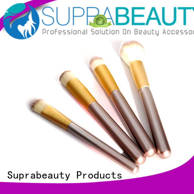 portable professional makeup brush set with synthetic bristles for artists