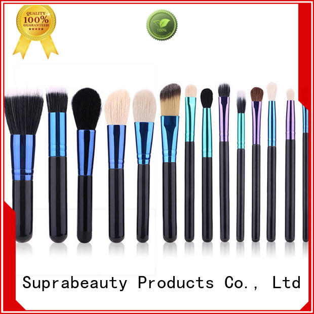Suprabeauty cruelty best quality makeup brush sets with brush belt for loose powder